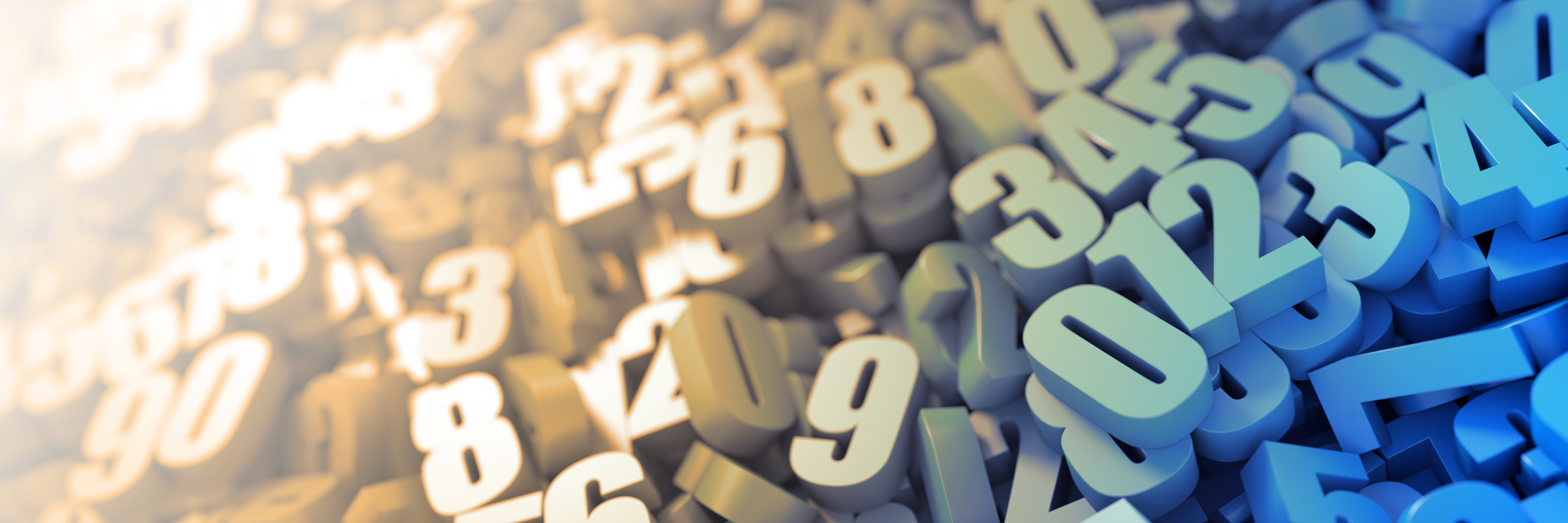 Infinite numbers background, original three dimensional models.