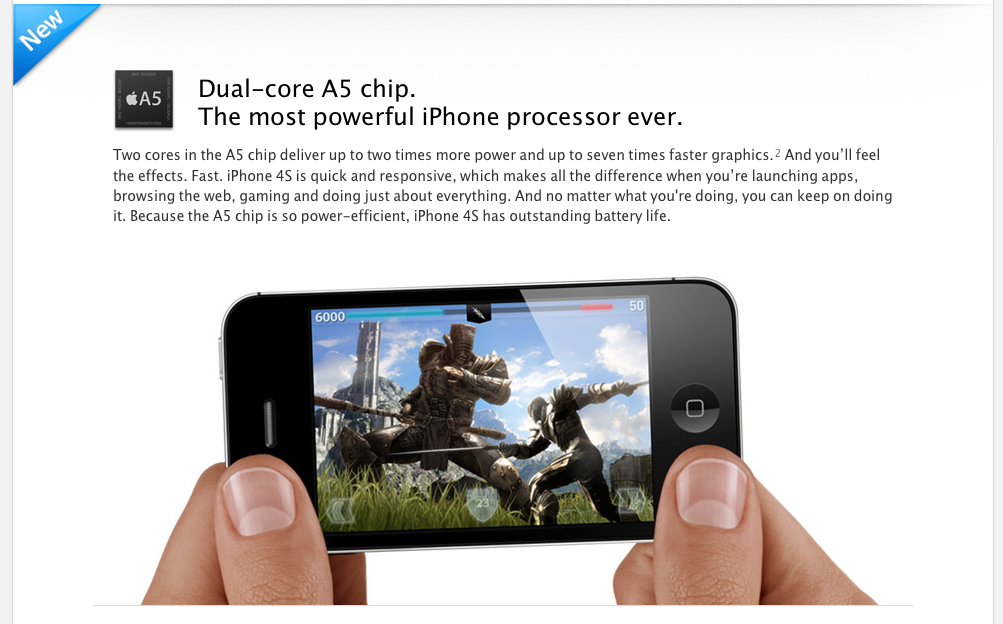 iPhone 4S with Dual Core A5 Processor