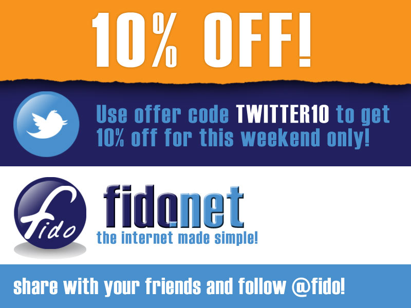 Save 10% with Fido