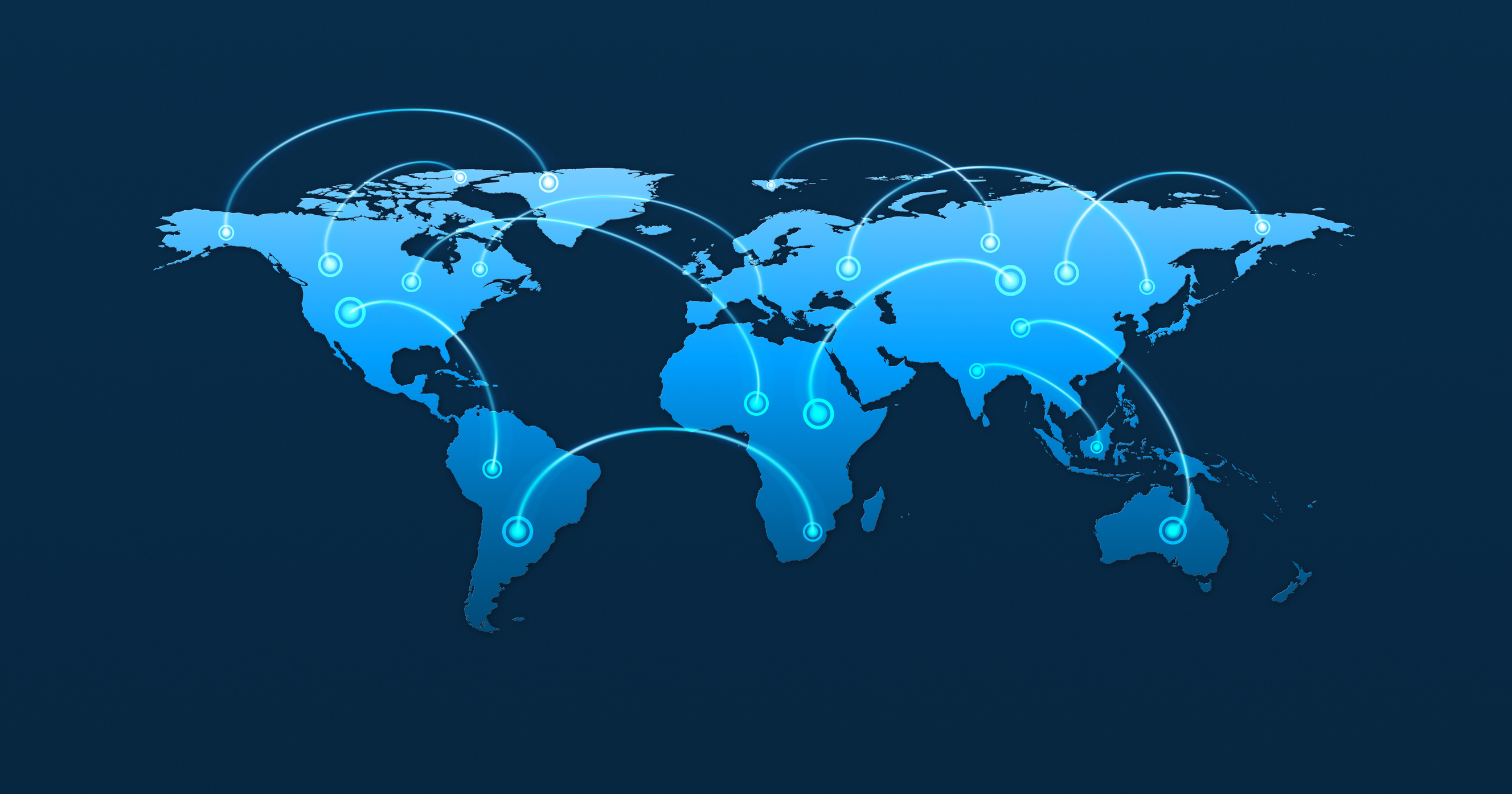 Global business connection concept, blue tone, Elements of this image furnished by NASA